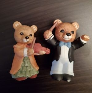 Home Interior Accents - Band Bear Figurines